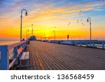 Sunrise At The Pier In Sopot ...