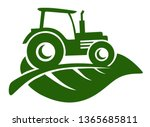 farm tractor icon suitable for... | Shutterstock .eps vector #1365685811