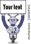 cartoon robot   vector | Shutterstock .eps vector #136569341