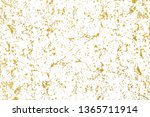 gold splashes texture. brush... | Shutterstock . vector #1365711914