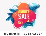 summer sale banner template.... | Shutterstock .eps vector #1365715817