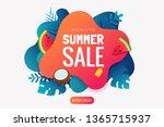 summer sale promo badge. summer ...   Shutterstock .eps vector #1365715937
