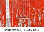 red hut wall | Shutterstock . vector #136571819