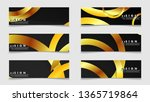 banners with abstract metal... | Shutterstock .eps vector #1365719864