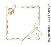 vector vintage square frame...   Shutterstock .eps vector #1365739907