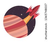 rocket planet space | Shutterstock .eps vector #1365748037