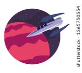 rocket planet space | Shutterstock .eps vector #1365750554