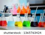 chemical tube set development... | Shutterstock . vector #1365763424
