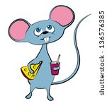 illustration of a mouse | Shutterstock . vector #136576385