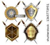 vector illustration of shield... | Shutterstock .eps vector #1365773951