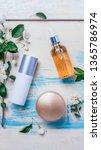 natural organic cosmetics ... | Shutterstock . vector #1365786974