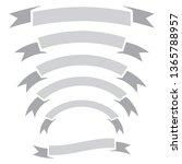 set of ribbon banner arch... | Shutterstock .eps vector #1365788957
