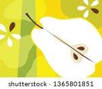 abstract fruit design in flat... | Shutterstock .eps vector #1365801851