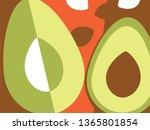 abstract fruit design in flat... | Shutterstock .eps vector #1365801854