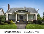 single family american... | Shutterstock . vector #136580741