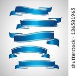 blue ribbon banners | Shutterstock .eps vector #136581965