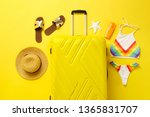 flat lay composition with... | Shutterstock . vector #1365831707
