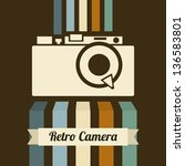 Retro Camera Over Brown...