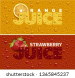 drinks and juice background... | Shutterstock .eps vector #1365845237