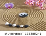 Japan Zen Garden With Yin And...