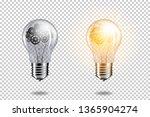 set of realistic transparent... | Shutterstock .eps vector #1365904274