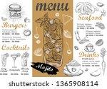 restaurant cafe menu  template... | Shutterstock .eps vector #1365908114