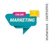 online marketing banner. banner ... | Shutterstock .eps vector #1365910541