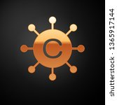 gold copywriting network icon... | Shutterstock .eps vector #1365917144