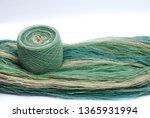 yarn cake and yarn skein | Shutterstock . vector #1365931994