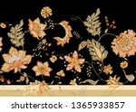 seamless  pattern with stylized ... | Shutterstock .eps vector #1365933857