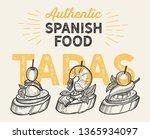 spanish cuisine illustrations   ... | Shutterstock .eps vector #1365934097