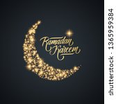 ramadan greeting card with... | Shutterstock .eps vector #1365959384