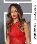 los angeles   feb 10   rihanna... | Shutterstock . vector #136599071