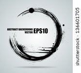 abstract black grungy banner... | Shutterstock .eps vector #136601705