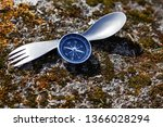 titanium spoon for hiking in... | Shutterstock . vector #1366028294