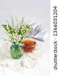 bouquet of lilies of valley on... | Shutterstock . vector #1366031204