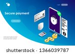 landing page secure payment...   Shutterstock .eps vector #1366039787