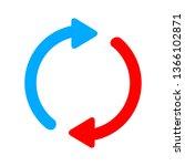 web refresh icon | Shutterstock .eps vector #1366102871