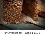 Rustic Loaf Of Bread With...