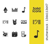 melody icons set with upload... | Shutterstock .eps vector #1366113647