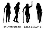 vector silhouette of woman who... | Shutterstock .eps vector #1366126241