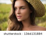 portrait of young lovely woman... | Shutterstock . vector #1366131884