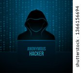 colored hacker code realistic... | Shutterstock .eps vector #1366156694