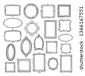 picture frame sketch set ... | Shutterstock .eps vector #1366167551