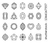 gemstones lines icon set ... | Shutterstock .eps vector #1366167557