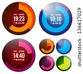 creative watch | Shutterstock .eps vector #136617029