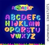 colorful alphabet set | Shutterstock .eps vector #1366171571