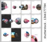 minimal brochure templates with ... | Shutterstock .eps vector #1366177784