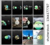 minimal brochure templates with ... | Shutterstock .eps vector #1366177787