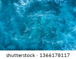 Top View Of Blue Frothy Sea...